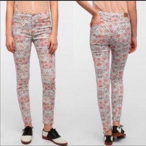 BDG | high rise cigarette jeans floral print 30